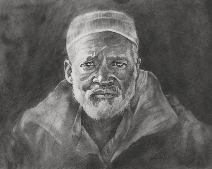 Kalifa Kourouma - drawing by Dave Kobrenski