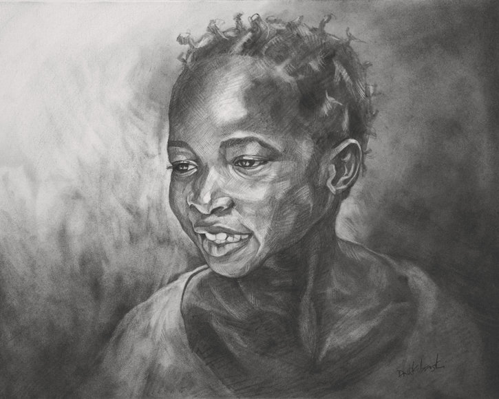 Jeune Fille de Kouyasidia I - drawing by Dave Kobrenski
