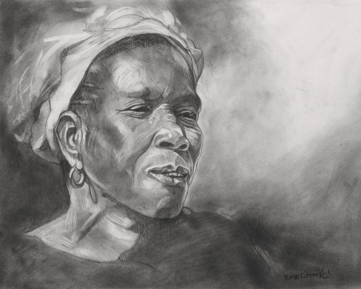 Chanteuse de Kouyasidia - drawing by Dave Kobrenski