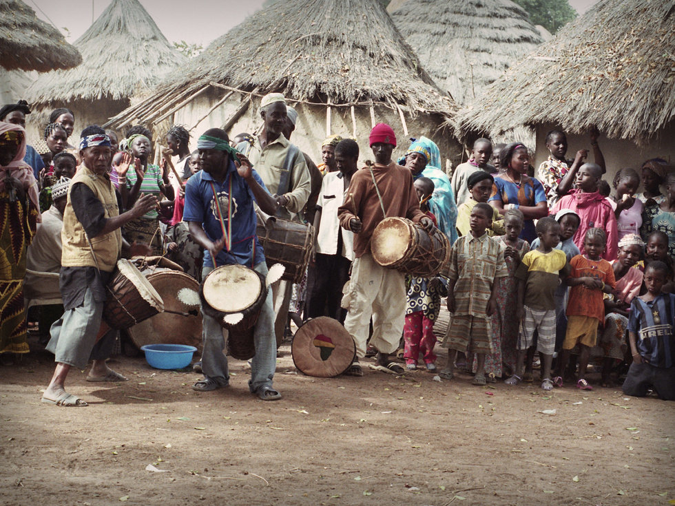 Musicians in Sanankoro, Guinea. Photo by Dave Kobrenski.