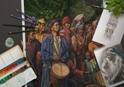 West Africa 2000-2011: Drawings and Paintings by Dave Kobrenski