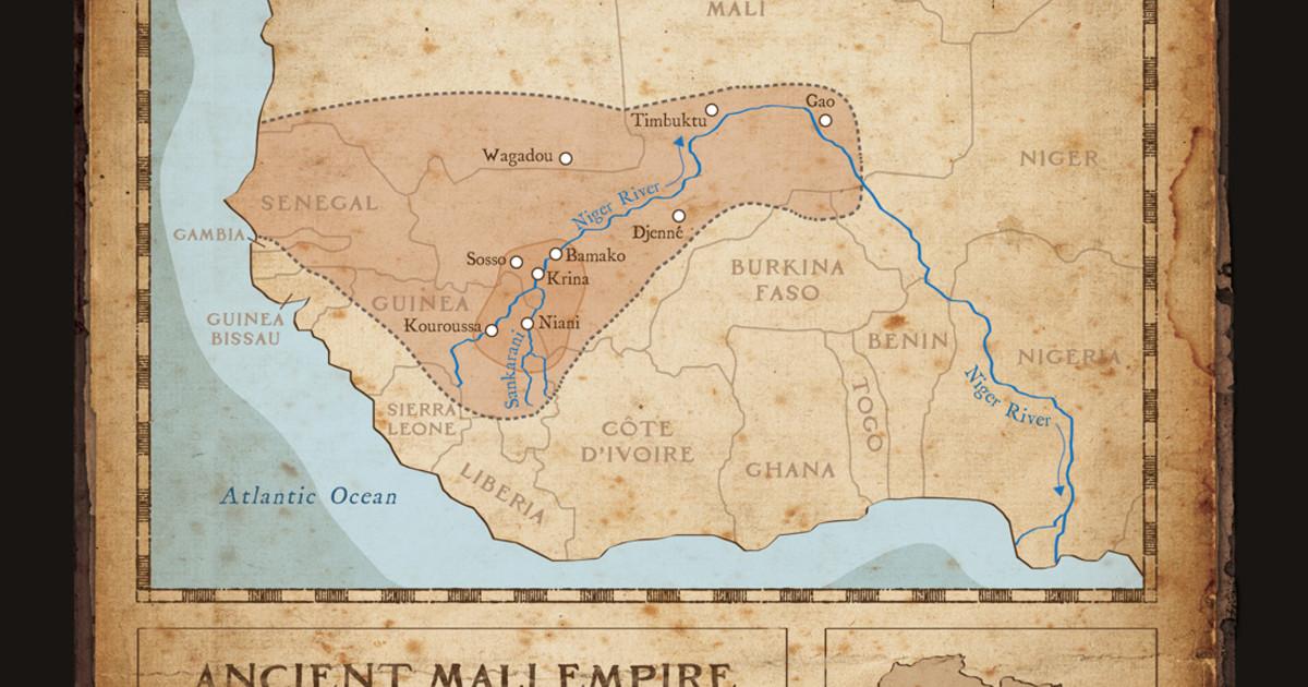 Djoliba Crossing Quot Ancient Mali Empire Map Quot