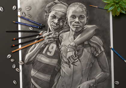 Drawing on Culture: West Africa. Artwork by Dave Kobrenski