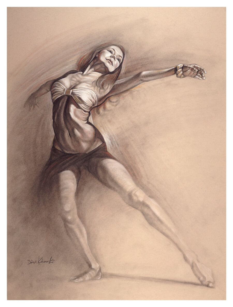 Irina I - the dancer - 18x24, charcoal and conté on toned paper. Feb 25, 2018