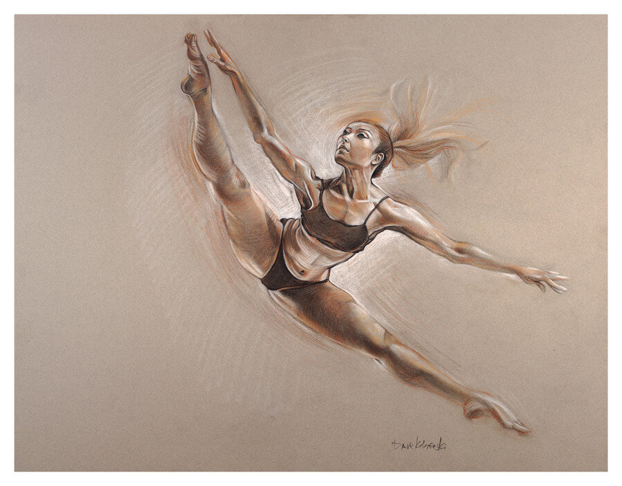 Ella I - the dancer - Figure study drawing. March 18, 2018
