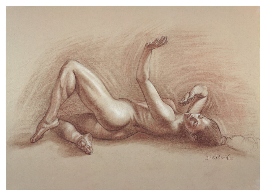 Lauren VIII - Figure study drawing.  October 19, 2020.